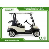 Quality EXCAR Beige Color Small Electric Golf Car With Italy Graziano Axle LED Headlight for sale