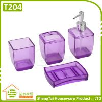 Best Latest Fashion Design Transparent Color Plastic Bathroom Sets For Bathroom Decor wholesale