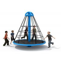 Quality Wear Resistant Pyramid Rope Climbing Frame / Elementary School Playground Equipment for sale
