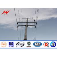 Best Hot Dip Galvanized Steel Power Transmission Poles 69 kv Power Distribution Pole wholesale