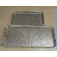 Best Food Grade Plastic Drying Trays / Perforated punched metal mesh Stainless Steel Tray wholesale