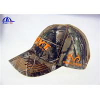 China Large Washed Cotton Camo Baseball Caps / Outdoor Sunshade Cap and Hats on sale