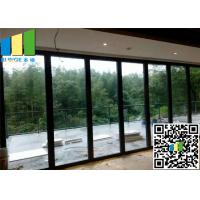 China Meeting Room Sliding Folding Glass Wall Partition Panels 12mm ~ 0.5 Inch on sale