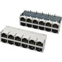 Quality 2x8 Multi-port Modular Jack RJ45 with transformer, shielded with EMI fingers for sale