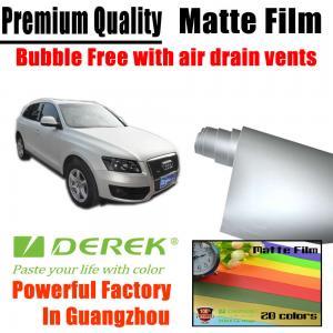 Quality Matte Car Wraps Vinyl Film - Matte Silver Car Wrapping Film for sale