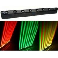 Quality Four-colors Red Green Blue White 8PCS Cree Bulbs LED Moving Head Light With Beam Mode for sale