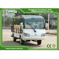 Quality EXCAR white 72V 11 Seater Electric Sightseeing Car With Storage Basket for sale