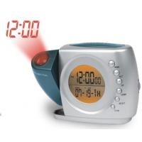 New Dual projections alarm clock radio with back up battery