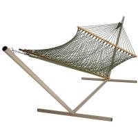 China 2 Person Cotton Rope Hammock With Wood Sparead on sale