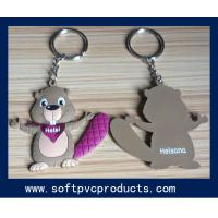 Quality Colorful Lovely Cartoon Picture Soft PVC Custom Key Chains with Metal Ring for sale