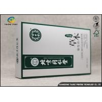 Buy Durable Cosmetic Packaging Boxes , 350gsm White Cardstock Paper Box For Hair at wholesale prices