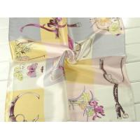 China Ladies 2013 Fashion  100% silk small Square Silk Scarf/pink and yellow scarves for women 53*53CM on sale