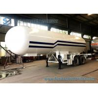 Buy cheap 21T LPG Tank Trailer BPW 2 Axles 49600L LPG Gas Tanker Truck 1mm Rust Thickness from wholesalers