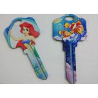 Quality Brass KW10 SC1 Custom House Key Blanks , Cartoon Themed Painted Keys for sale