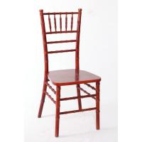Quality Durable Wooden Mahogany Chiavari Chair , Armless Modern Wooden Chair For Commercial for sale