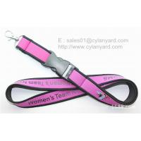 Quality Sublimated neoprene neck lanyard with merrow from China lanyard factory for sale