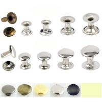 Quality Factory outlet 5mm-12mm double side brass Stainless steel iron mushroom or caps tube rivet for handbag jeans cloth shoes for sale
