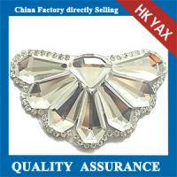 Quality hot sale Fashion Dress Accessories rhinestone beaded applique patch for sale