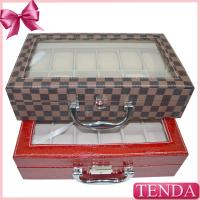 China Large Big Size Red Black Watch Carrier Collection Collector Displays Case for Chain Store Shop on sale