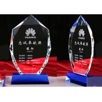 Quality K9 Crystal Glass Awards For Student School Activities / Sports Competition Winners for sale