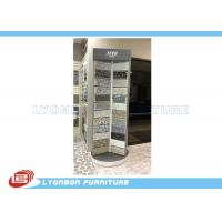 Quality Silver Rotate Round Wooden Display Stands For Mosaic Selling Painting Display for sale