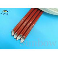 Quality Elastomer Bonded To Silicone Fiberglass Sleeving High Temperature Wire Sleeve for sale