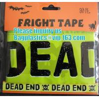 Quality Rolls Halloween Caution Party Tape,Party halloween banner , plastic streamer caution party tape, fright tape bagease for sale
