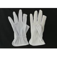 Quality Half Finger ESD Anti Static Gloves Light Weight 15g Per Pair Class 10 - 1000 for sale