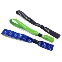 Quality Polyester Woven Slide Locking Wristband for sale