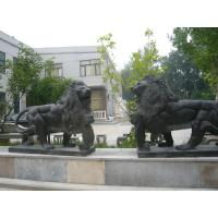 Quality Marble stone sculpture walking lions sculpture,outdoor stone sculpture supplier for sale