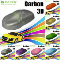 Quality 3D Carbon Fiber Vinyl Wrapping Film bubble free 1.52*30m/roll - Silver for sale