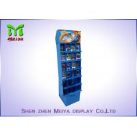 Best Recyable Supermarket display rack 6 tiers floor cardboard  display stand for toy store with customized divisions wholesale