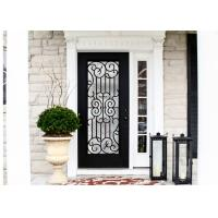 Quality Durable Wrought Iron Glass Inlaid Door , Decorations Wrought Iron Interior Doors for sale