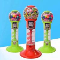 Quality 110V 220V Spin Capsule Toy Machine / Gum Bouncy Ball Vending Machine for sale