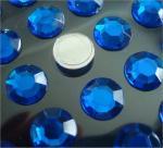Best round shape flat back rhinestone sticker loose stone self stick 3d sticker wholesale