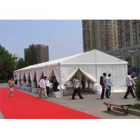 China Movable Aluminum Frame 200 Person Tent PVC 10x24m No Pole Inside on sale