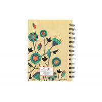 Quality Kraft hard cover square Double Spiral Bound Notebook printing service for sale