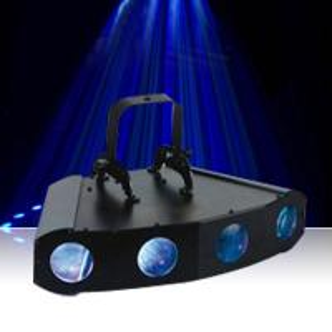 Quality LED 4 head flash light stage effect dmx sounds lights 108pcs 5mm high brightness leds for sale