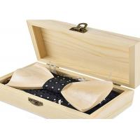 Quality Hinged Lid Handmade Wooden Boxes For Gift Packaging , Small Natural Color Wooden Box With Lock for sale