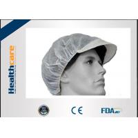 Quality Nonwoven PP Disposable Head Cap Bule/White Cap With Peaked CE ISO FDA For Food for sale