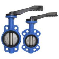 Quality ANSI DIN compact Flange PN10 Wafer Butterfly Valve for sale