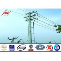 Best 69kv 15m Transmission Electrical Steel Tubular Pole Supporting / Metal Utility Poles wholesale