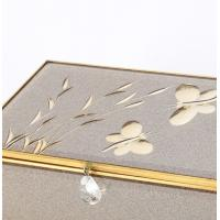 Quality Beautiful Mirrored Glass Jewellery Box With Compartments , Glass Jewelry Storage Box for sale
