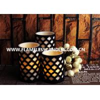 Best Set of 3 Flameless LED Candles With 2 Layer Carved Pattern wholesale