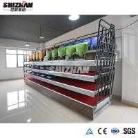 Quality Electric Automatic Retractable Telescopic Seating System Plastic Bleachers for sale