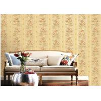 Quality American Country Style Deep Embossed Wallpaper Durable 1.06*15.6m Roll Size for sale