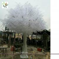 Best UVG indoor white big artificial banyan tree with silk leaves for winter wedding decorations GRE060 wholesale