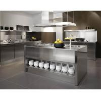 Best Sliver color L-shape Stainless Steel Kitchen Cabinet With Shelf And Drawer For House wholesale