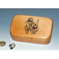 Quality Natural Wood Solid Timber Jewellery Box With Lacquer, Handmade Wooden Ring Gift Box for sale