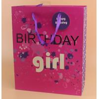 Quality Lovely birthday pink gfit bags for sale